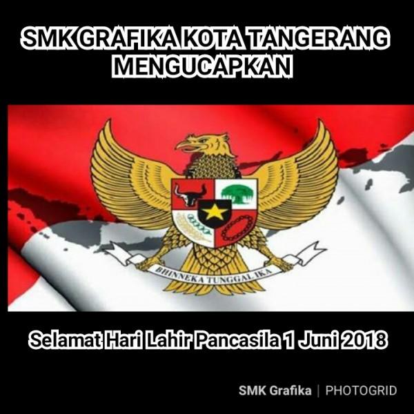 SMK Grafika Kota Tangerang Memperingati Hari Lahir Pancasila 1 Juni 2018