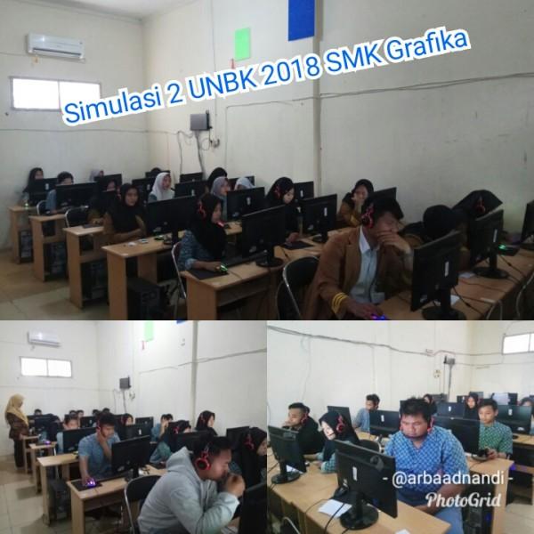 Simulasi UNBK 2018 di SMK Grafika