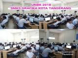 Ujian Nasional Berbasis Komputer UNBK 2018 dilaksanakan di SMKS GRAFIKA KOTA TANGERANG